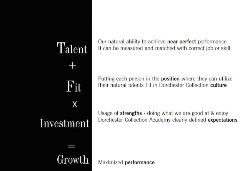 Dorchester Collection talent formula