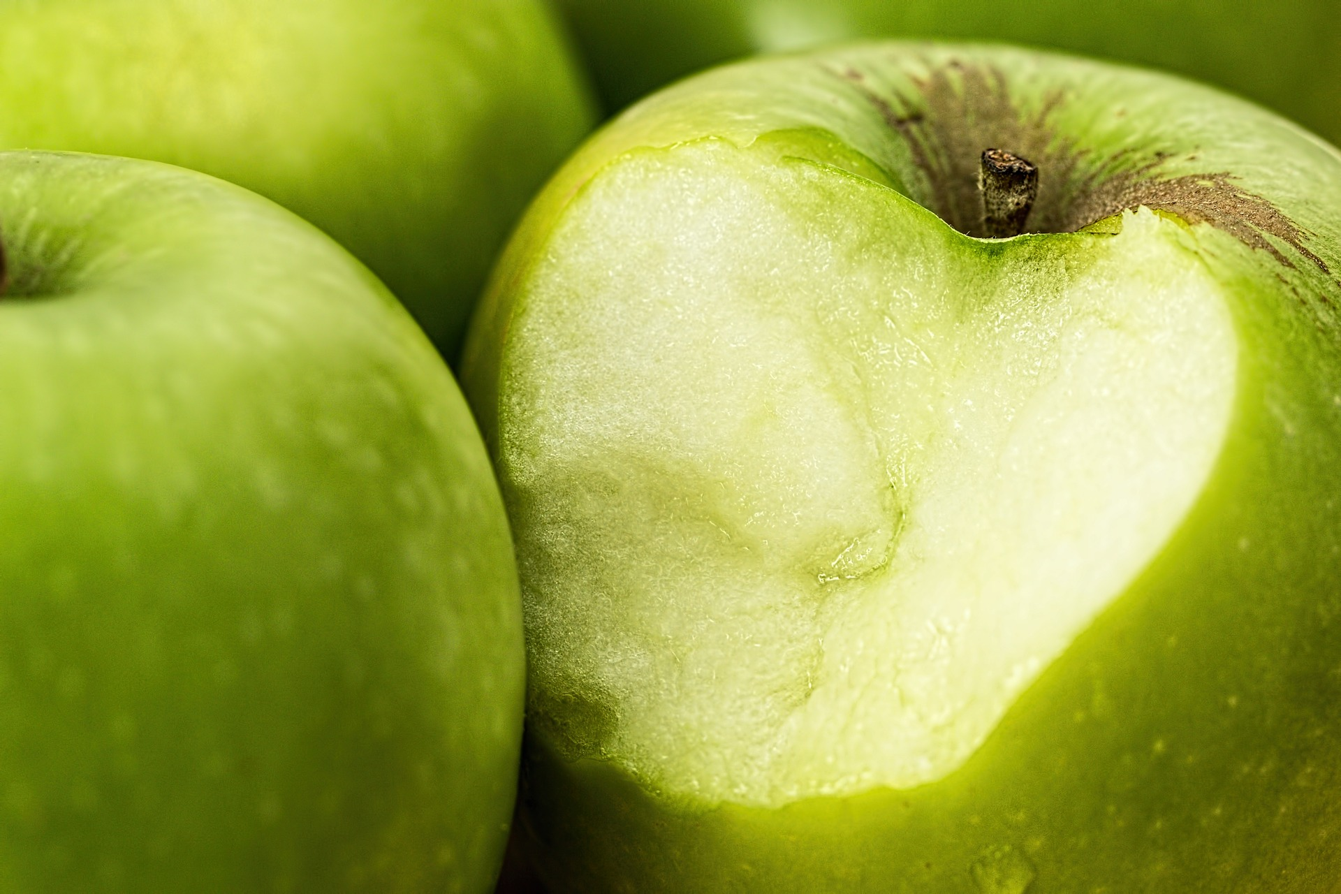 Chunk of apple