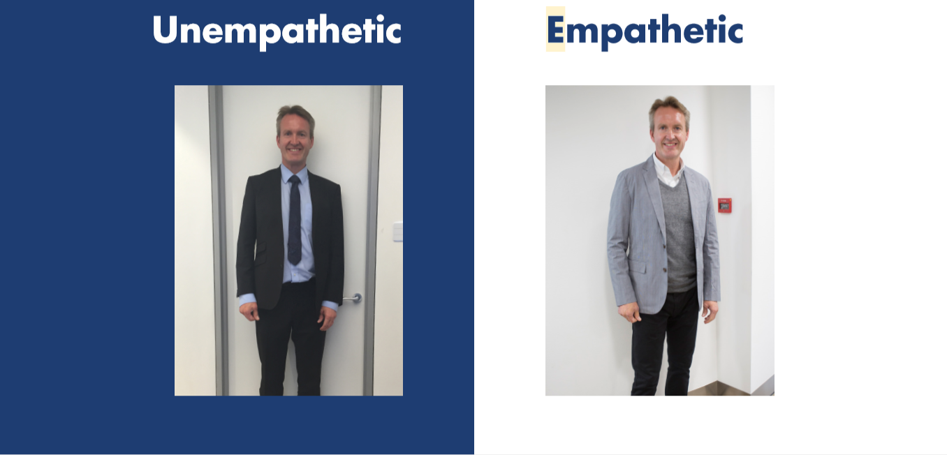 Empathy vs non empathy workplace: suits