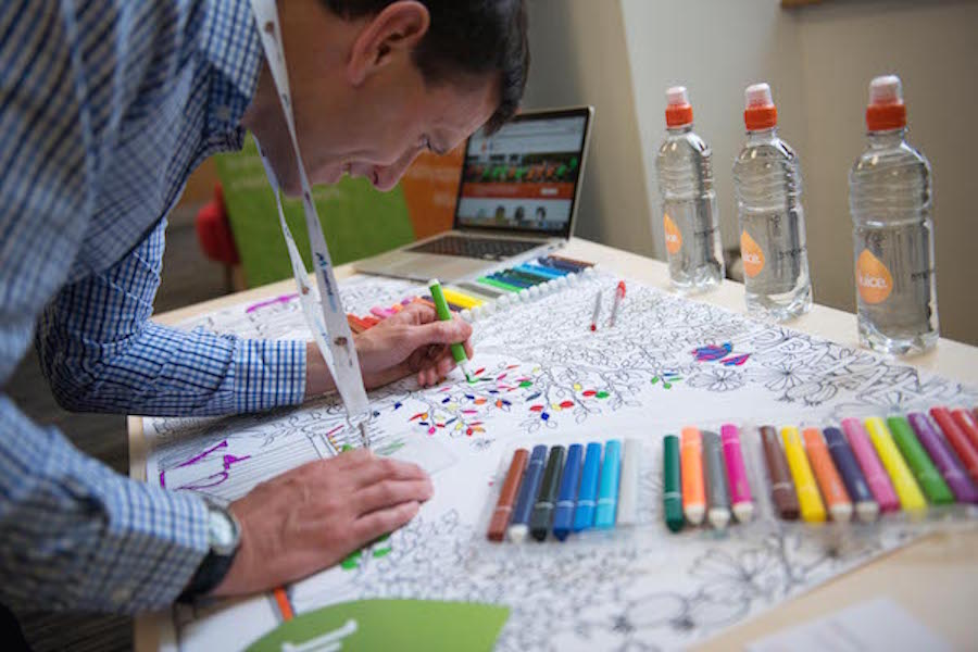 Andy Dodman University of Sheffield employee wellbeing colouring