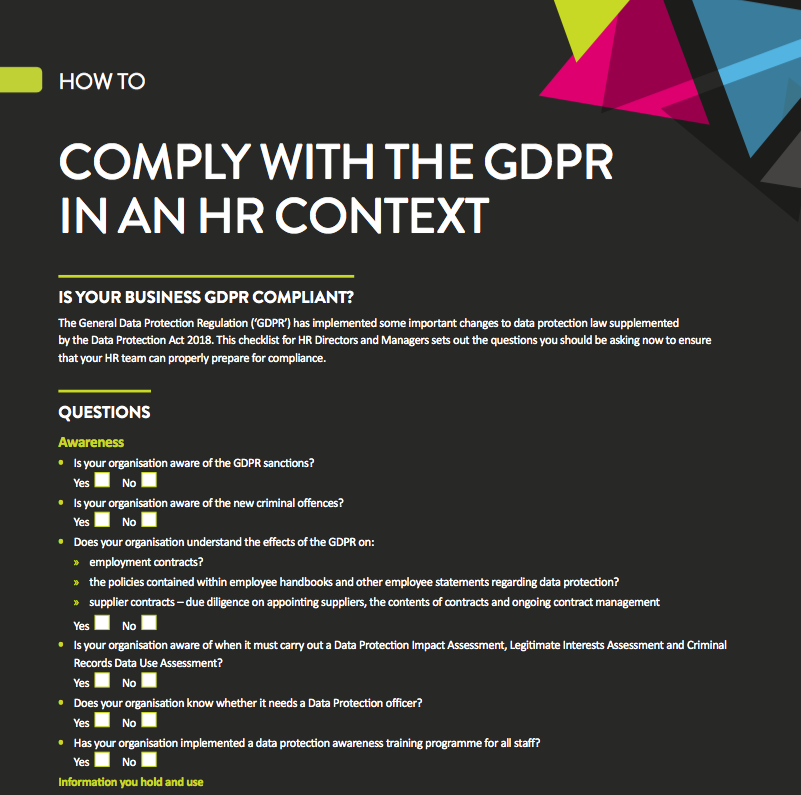 How to comply with GDPR in an HR context: checklist | Brand