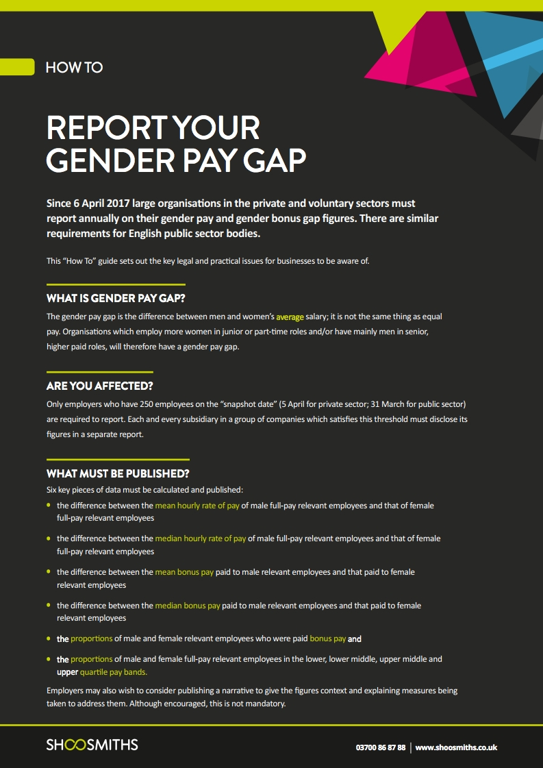 How to report your gender pay gap