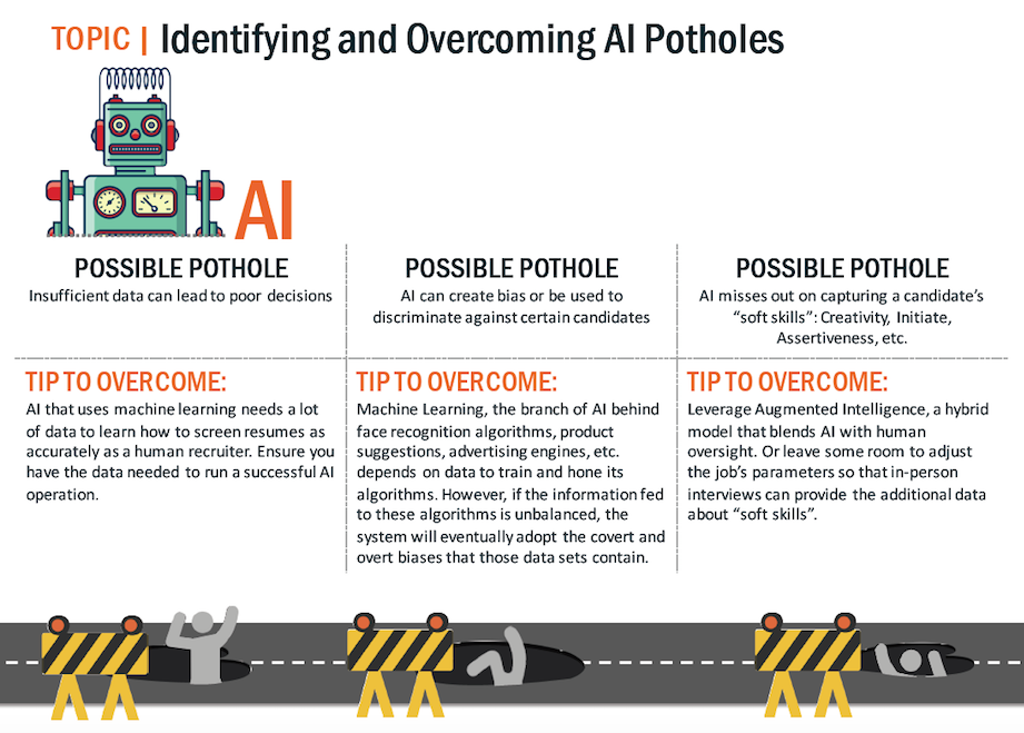 Identifying and overcoming artificial intelligence potholes