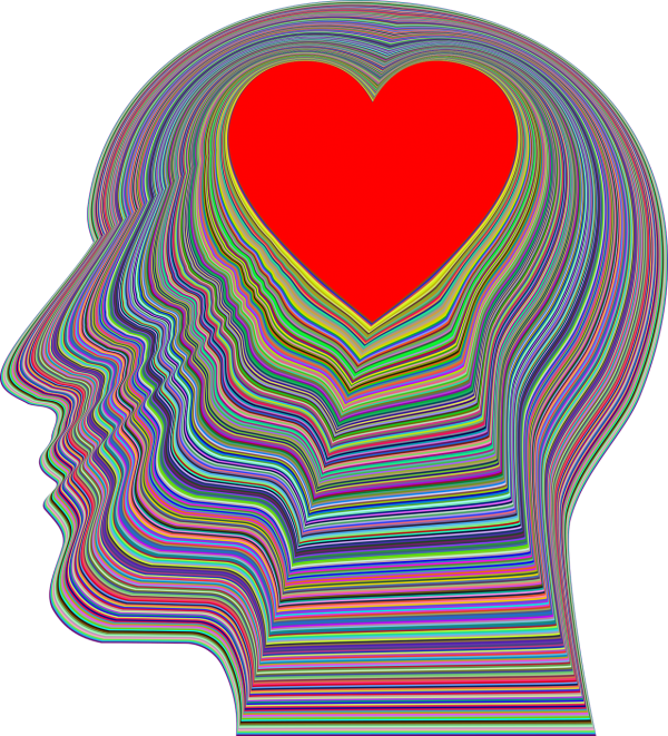 Head and heart Image by Gordon Johnson from Pixabay