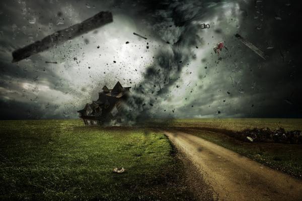 DIgital tornado approaches