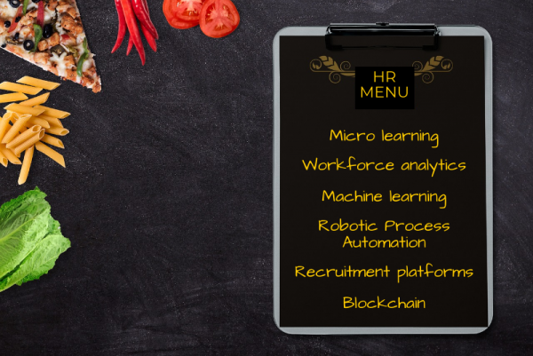 HR digital menu