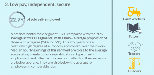 Self employment segments